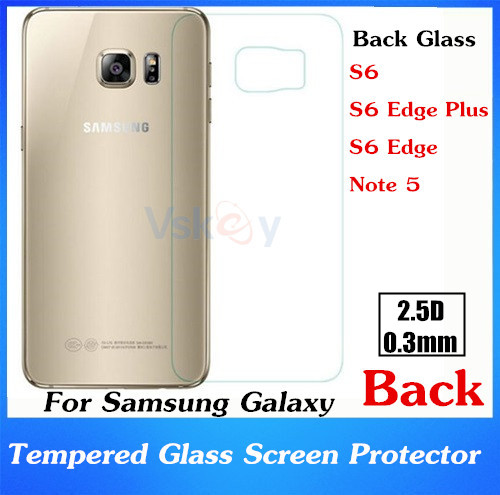 imágenes para 20 unids 2.5D 0.3mm Negro Película de Vidrio Templado Para Samsung Galaxy S6 Edge Plus Protector de Pantalla A Prueba de Explosión Anti-roturas
