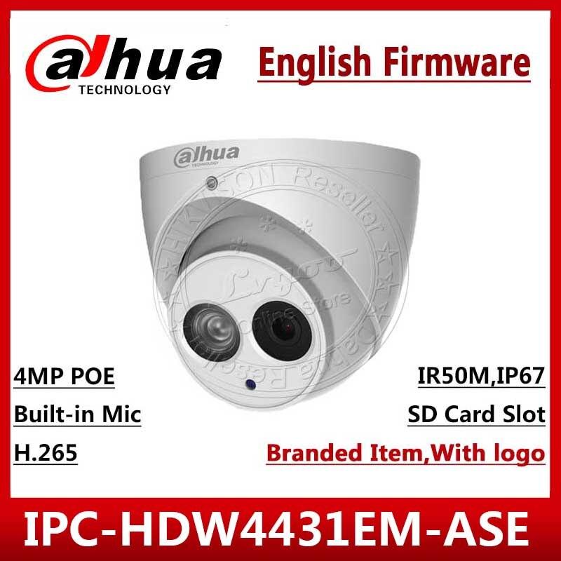 Dahua 4MP IPC HDW4431EM ASE POE IR bulbo oculare IPC HDW4431EM AS H.265 Inglese Versione DH IPC HDW4431EM AS CCTV telecamera IP di Rete