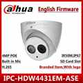 Dahua 4MP IPC HDW4431EM ASE POE IR eyeball IPC HDW4431EM AS H.265 English Version DH IPC HDW4431EM AS CCTV Network IP camera