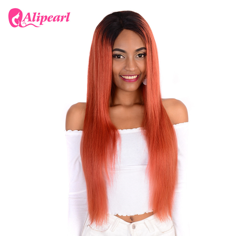 AliPearl Hair #1B/350 Ombre Lace Front Human Hair Wigs 130 ...