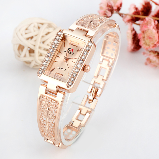 Top brand luxury bracelet watch women watches rose gold women's watches diamond