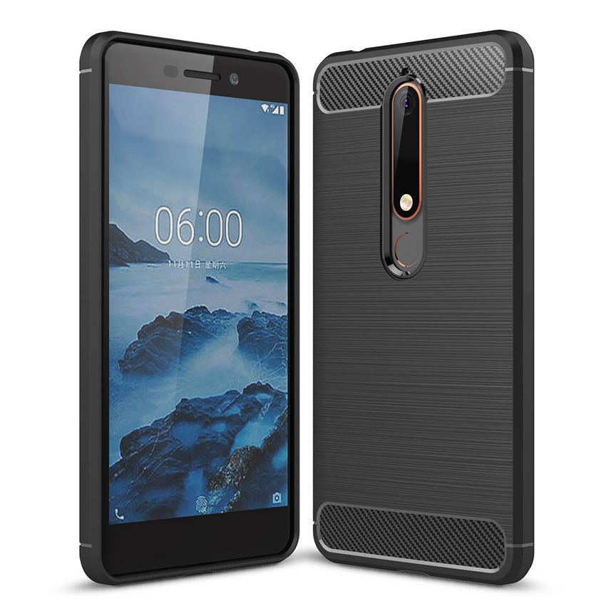 Luxury Soft Carbon Case For <font><b>Nokia</b></font> <font><b>6.1</b></font> Case For <font><b>Nokia</b></font> 6 2018 Case Silicon Phone back Cover For <font><b>Nokia</b></font> 6 2018 TA-1068 TA-1050 image
