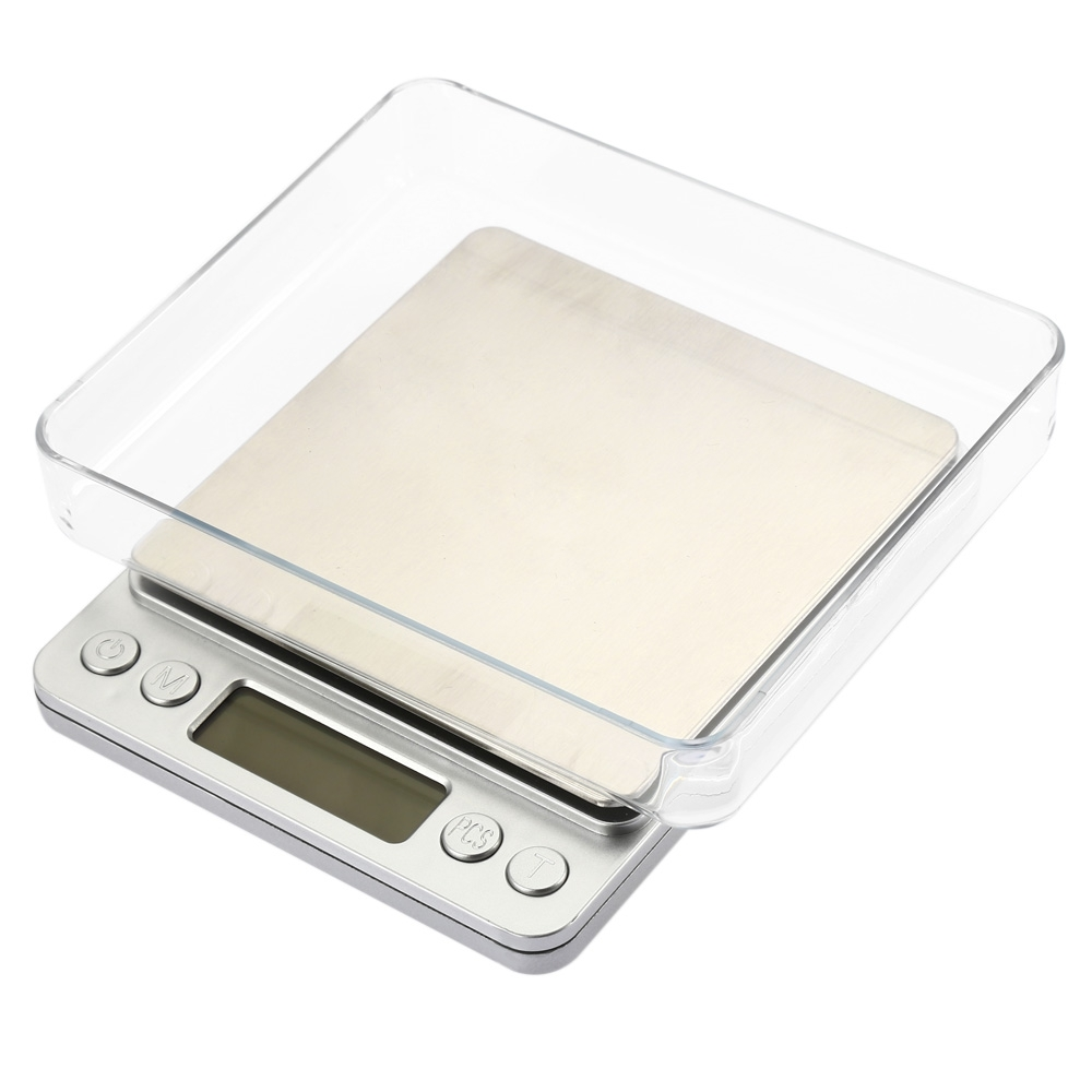 2000g/0.1g Digital Scale Kitchen Cooking Measure Tools Stainless Steel Electronic Weight LCD Electronic Bench Weight Scale