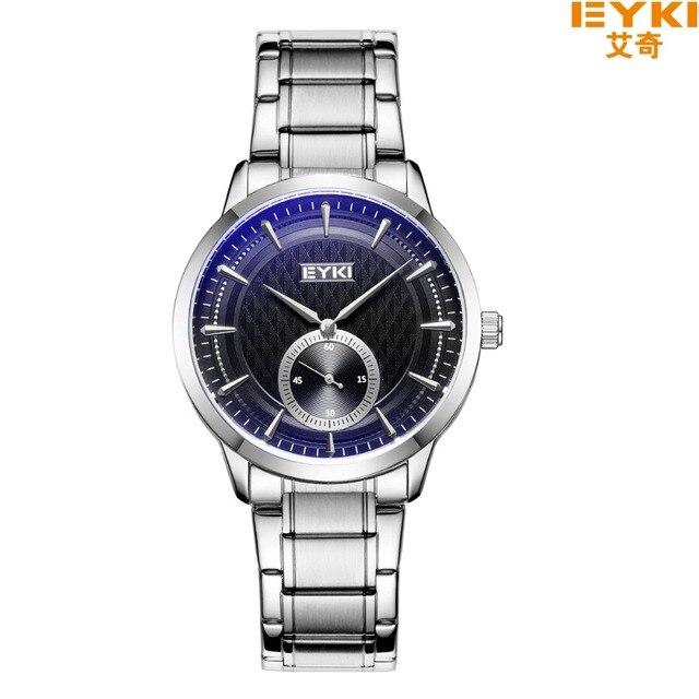EYKI Couple Quartz Watches For Lovers Waterproof Ultra Thin Date Clock Male Steel Strap Bracelet Watches Women Relogio Masculino
