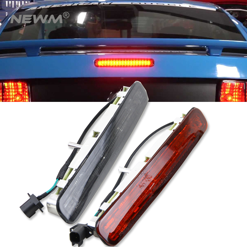 Smoked/Clear Lens Super Bright 16-LED Third 3rd Brake Light For 2005-2009 Ford <font><b>Mustang</b></font> 1pc image