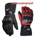 Winter Motorcycle Gloves Waterproof Warm Motocross Racing Motos Motorbike Cycling Glove luvas Guantes M L XL XXL Black Blue Red