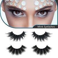 Mangodot 1Pair 3D Mink Hair False Eyelashes Natural Thick Long Eye Lashes Wispy Makeup Beauty volume Eyelash Extension SD18