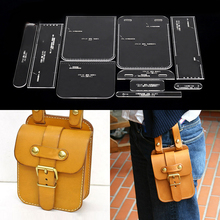 Ручная сумка на плечо шаблон прозрачный акриловый кожаный узор DIY хобби кожевенное ремесло шитье шаблон трафареты 13x20x6 см