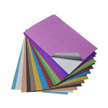 Glitter scrapbooking sticker die cut craft sticks glitter sheets self-adhesive metallic paper book cover stickers 10pcs/bag