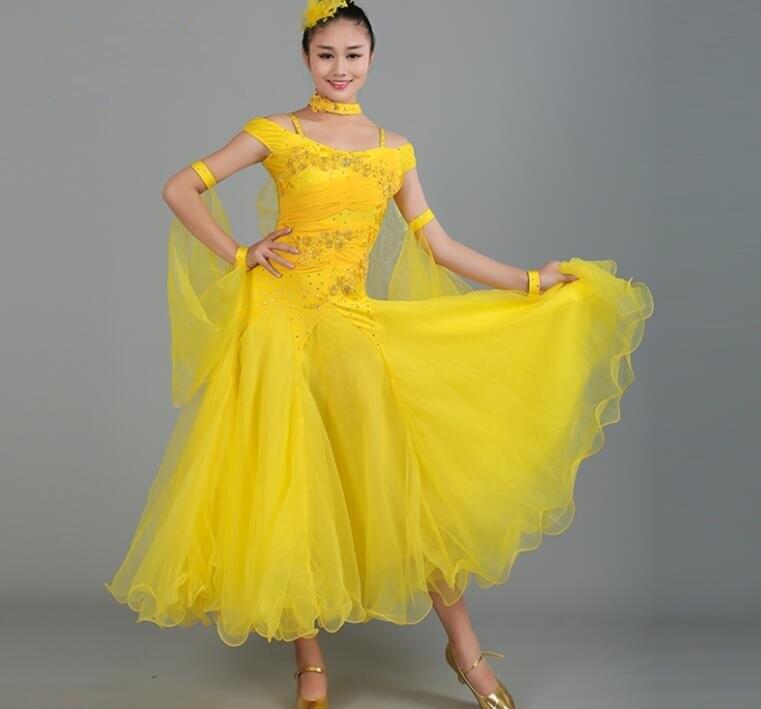 ef5290c23ab2f3a Новые женские бальные Танцы платье современный танец конкурс костюм женщины  Вальс Танго фокстрот квикстеп платья