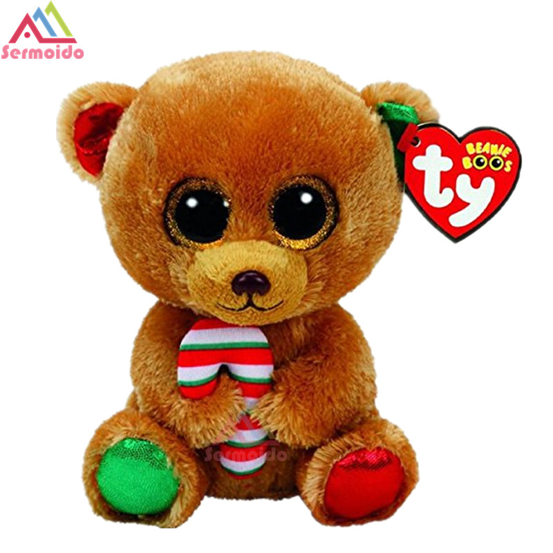 a1dd6818865 Detail Feedback Questions about sermoido TY 6   Beanie Boos Bella the  Christmas Bear Plush Regular Stuffed Animal Collectible Doll Toy DBP72 on  ...