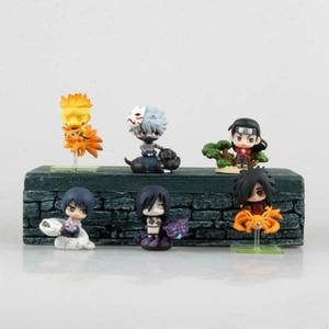Image 4 - 6 ชิ้น/เซ็ตPOP Naruto Sasuke Uzumaki Kakashi Gaara Actionพร้อมMounts Figuresญี่ปุ่นอะนิเมะคอลเลกชันของขวัญของเล่นWX171