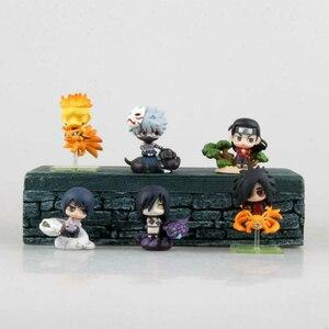Экшн-фигурки Naruto Sasuke Uzumaki Kakashi Gaara, 6 шт./компл.