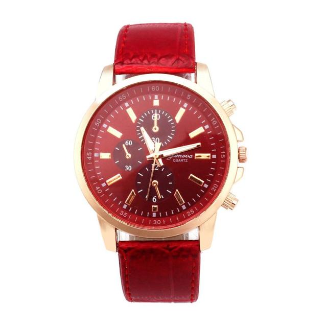 watches women Sport Wrist Watch Geneva Leather Analog Dial Quartz 2018 Selling f