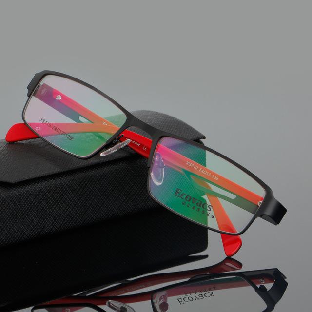 Masculino Óculos Armação Óptica Olho Míope Quadro de Imagem de Moda Senhora Óculos Full Frame Exceder Luz Confortável Tipo XS 710