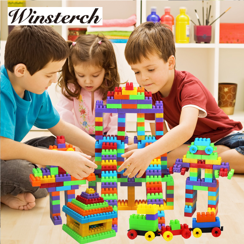 Baby DIY Plastic Funny Blocks Jigsaw Toys Kids Children Educational Toys Gifts Kindergarten Teaching Tools Set RT022 3d puzzles metal jigsaw silver children educational games diy for children toys teaser games for kids scale 1 72