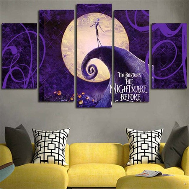 Canvas Prints Wall Art Painting Modern Picture The Nightmare Before Christmas Prints Poster Home Decor Artwork & Canvas Prints Wall Art Painting Modern Picture The Nightmare Before ...