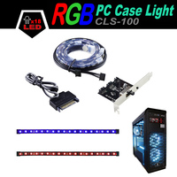 ALSEYE CLS 100 1 Pair Computer RGB LED Case Light Waterproof Magnetic Strips With Controller 30cm