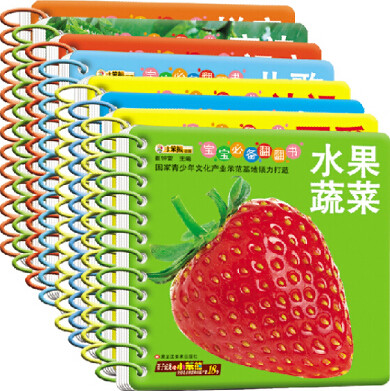 8 Pcs/set Chinese Characters Children Learning Cards Baby Preschool Picture Flash Card For Kid Age 3-6