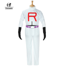 ROLECOS PoKemonTeam Rocket James Top and Pants Costumes