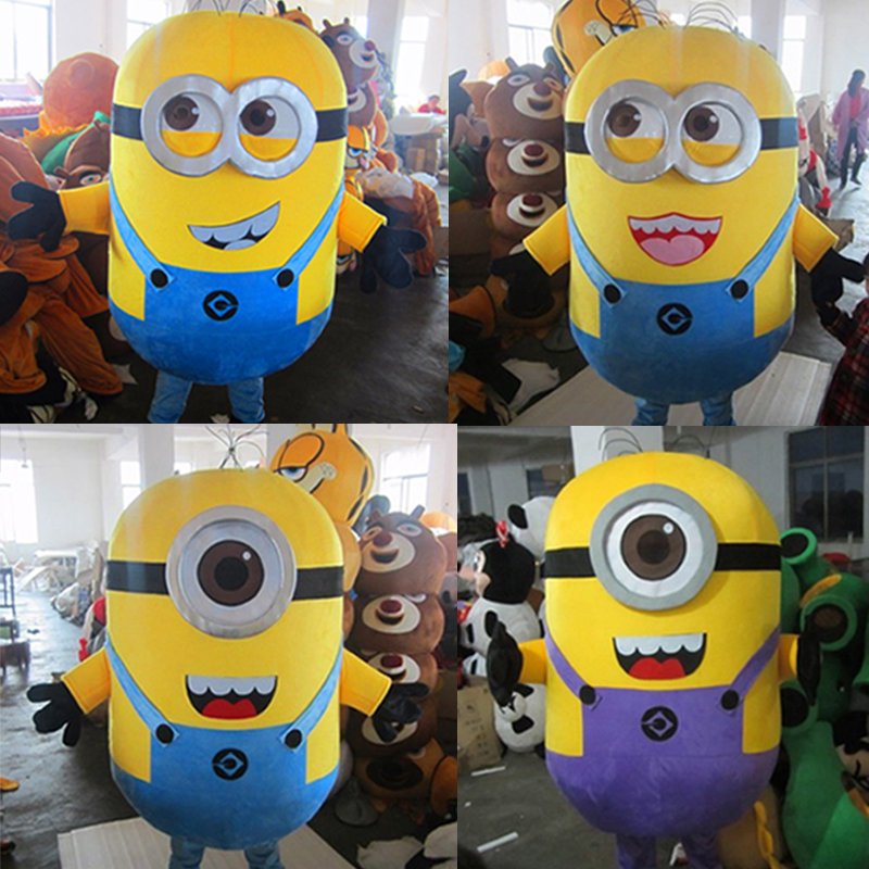 minions mascot costume for adult fancy cosplay