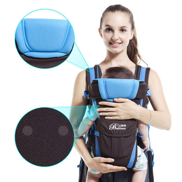 0-24M Breathable Multifunctional Front Facing Baby Carrier Adjustable Newborn Sling Portable Backpack Pouch kid carriage wrap