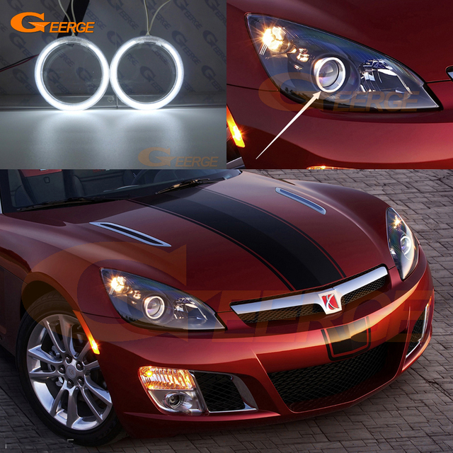 For Saturn Sky 2007 2008 2009 2010 Excellent Ultra Bright Headlight  Illumination CCFL Angel Eyes Kit
