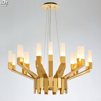 Modern Scandinavian Designers Of The New Long Glass Lamp Creative Model Room Club Features Gold Chandeliers