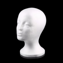 1Pc Durable White Female Styrofoam Mannequin Manikin Head Model Foam Wig Hair Glasses Display Glasses Hat Display Stand