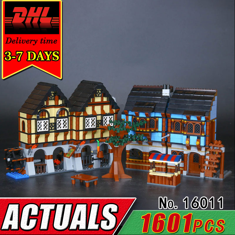 DHL LEPIN 16011 The Medieval Manor Princess Castle Building Blocks Model Set Compatible Bricks Figures Toys Girl Children Gift new lepin 16009 1151pcs queen anne s revenge pirates of the caribbean building blocks set compatible legoed with 4195 children