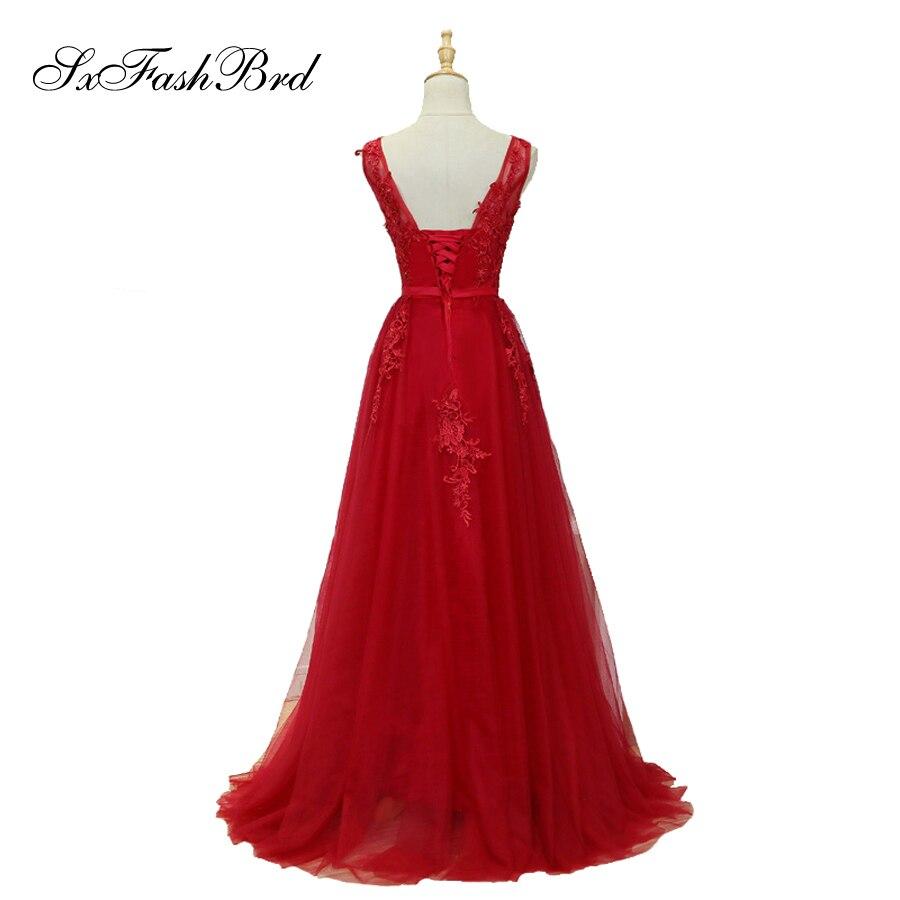 Vestido De Festa V με λαιμό με τις εφαρμογές - Ειδικές φορέματα περίπτωσης - Φωτογραφία 2