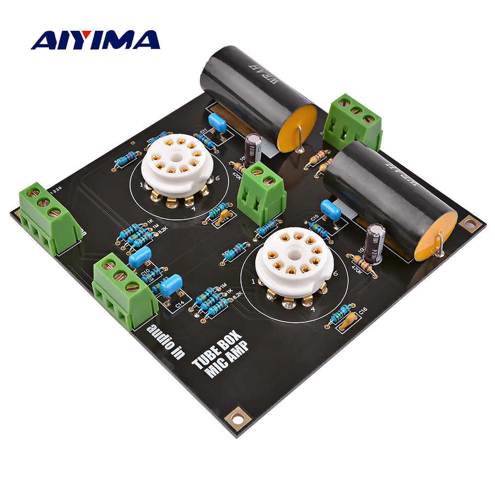 AIYIMA X10-D Music Fidelity Bile Preamp Tube Amplifier Buffer Board HIFI Preamplifier Dual 12-30V Home Theatre