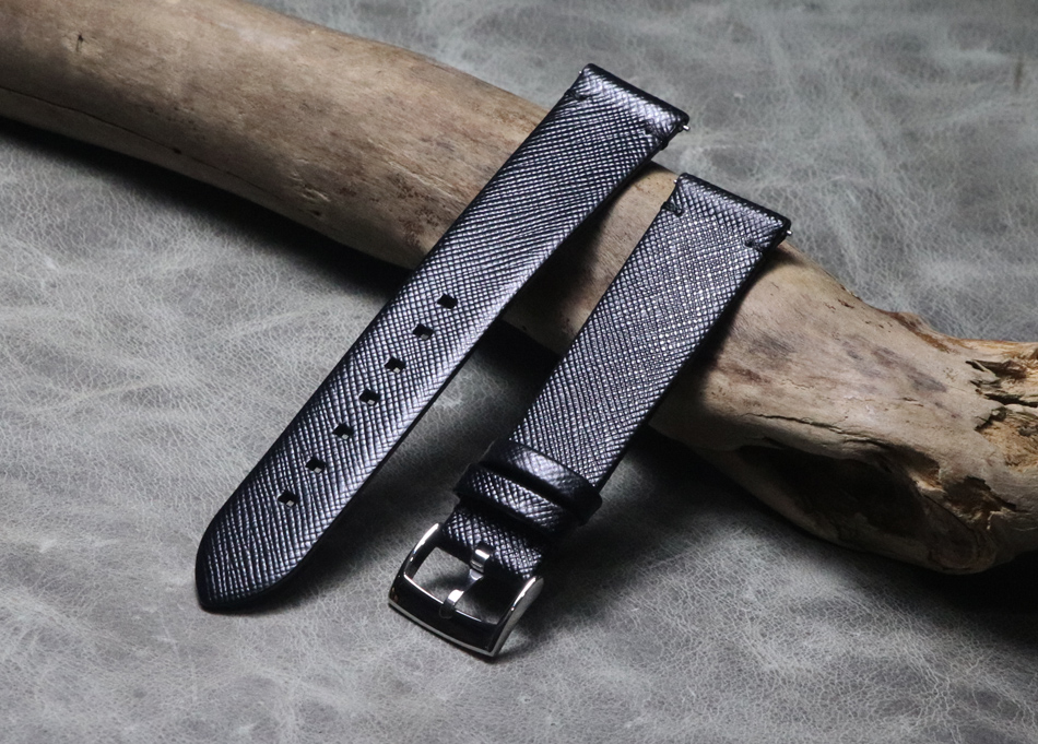 Black Twill Handmade 18 19 20 21 22 Mm Men Women Genuine Leather Watch Band Strap Wristband Belt Bracelet For Omega/Seiko/IWC