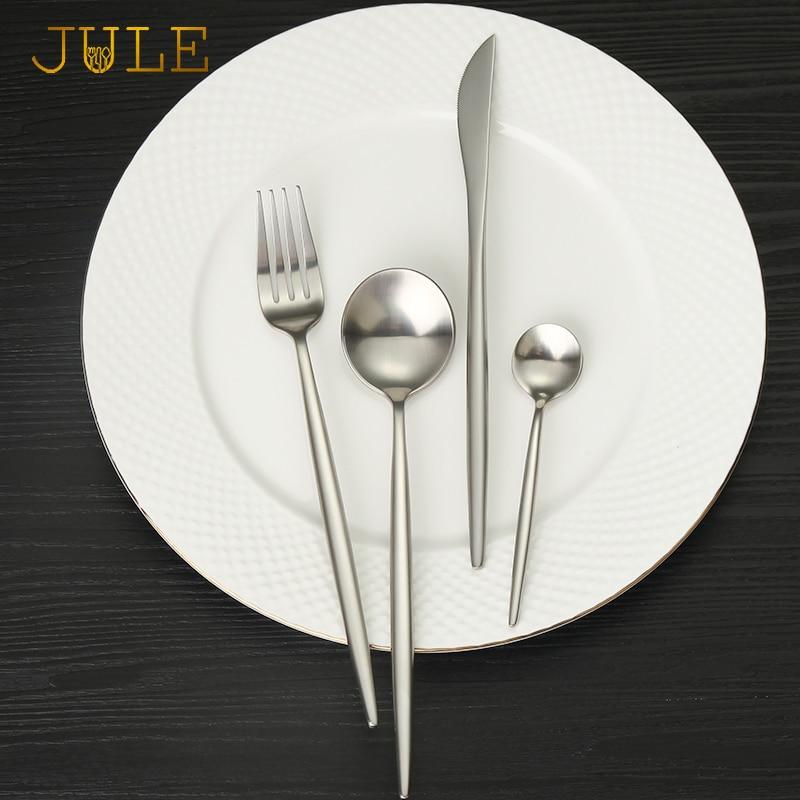 Gümüşü bıçaq dəsti 304 Paslanmayan poladdan hazırlanmış - Mətbəx, yemək otağı və barı - Fotoqrafiya 2