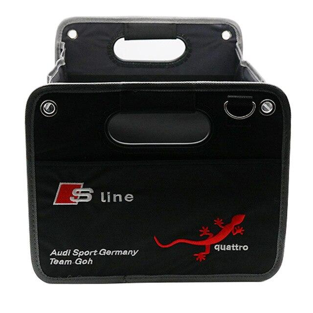 Крада стайлинга автомобилей Кофр складной большой Ёмкость ящик для хранения транспортного средства органайзер для Audi A5 A4 B8 b6 b7 B5 A3 q7 Q5 A1 A6 C5 TT