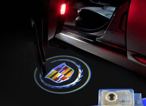 2X  Logo Light Ghost Shadow Projector Car Door Courtesy Laser Door Puddle Lights welcome lights for Cadillac  SRX,ATS,CTS,XTS