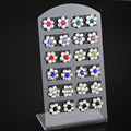 12 Pairs Mixed Rhinestone Flower Earrings Set Crystal Exquisite Stud Earrings gifts for women 2018 Fashion Jewelry