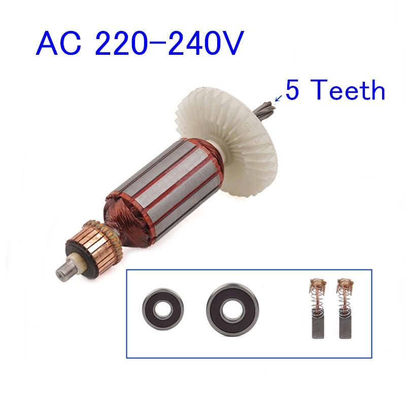 5 Teeth Armature Rotor Replace For Makita HR2440 HR2440F HR2450 HR2451 HR2450F HR2450FT HR2453 HR2450A HR2450T HR2455 Tools Part