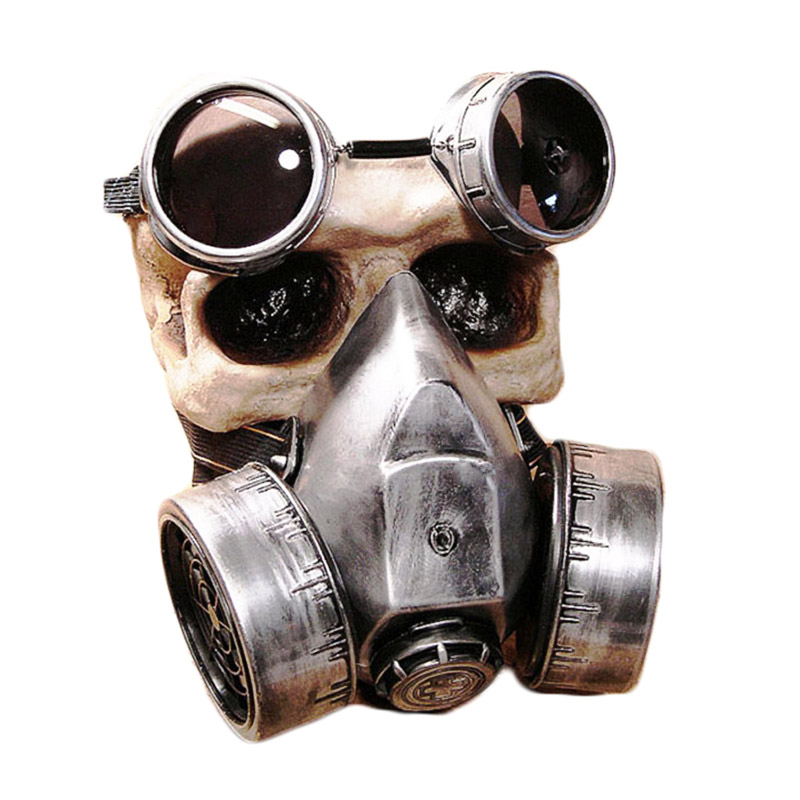Steampunk Män Kvinnor Retro Haze Masker Klassiska Gothic Halloween Cosplay Googles Gasmasker Anti-Frogging Custom Mask