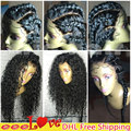 Вьющиеся Полное Кружева Парики Человеческих Волос для Черных Женщин Девственной Бразильский Парик Фронта шнурка Glueless Полный Шнурок Человеческих Волос Парик с Ребенком волос