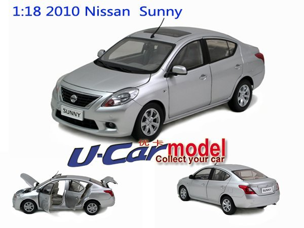 1pcs/lot 1:18  China Nissan 2010 new Sunny die-cast  Car model(Silver)  on sales