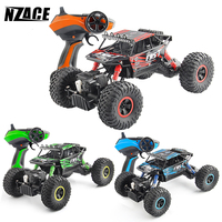 NZACE RC Car 4WD 2.4GHz Rock Robots Rally climbing Car 1:18 Double Engines Bigfoot Car Remote Control Model Off Road Vehicle Toy