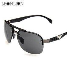 LeonLion 2018 Classic Vintage Sunglasses Man Driving HD Big Frame Sun Glasses Women Brand Designer UV400 Outdoor Oculos De Sol