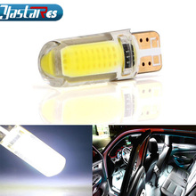 1pcs T10 COB led Car W5W Light Bulb 12V Interior Light 6000k White Clearance Tail light license plate light Car styling yumseen 10pcs car styling t10 w5w cob led 2w pure white clearance light marker lamps license plate lights new arrivval