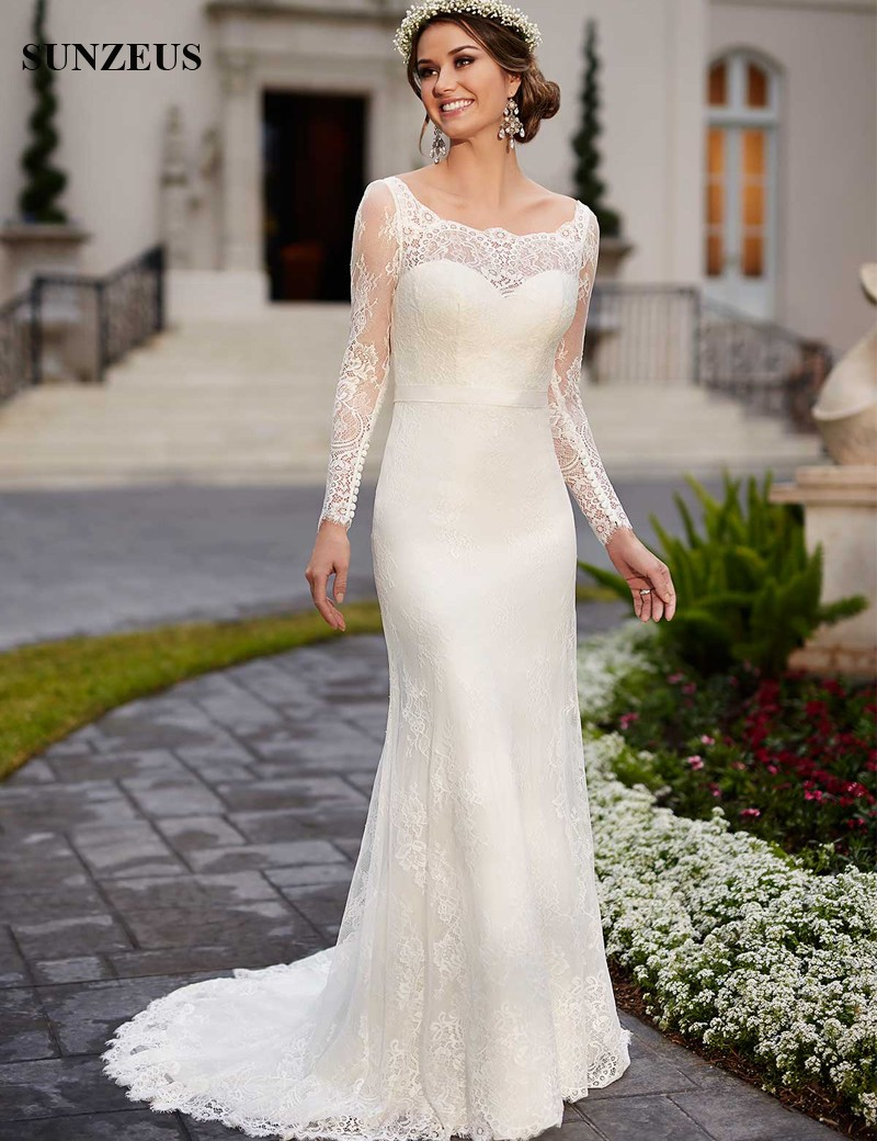 Simple Winter Wedding Dresses 28