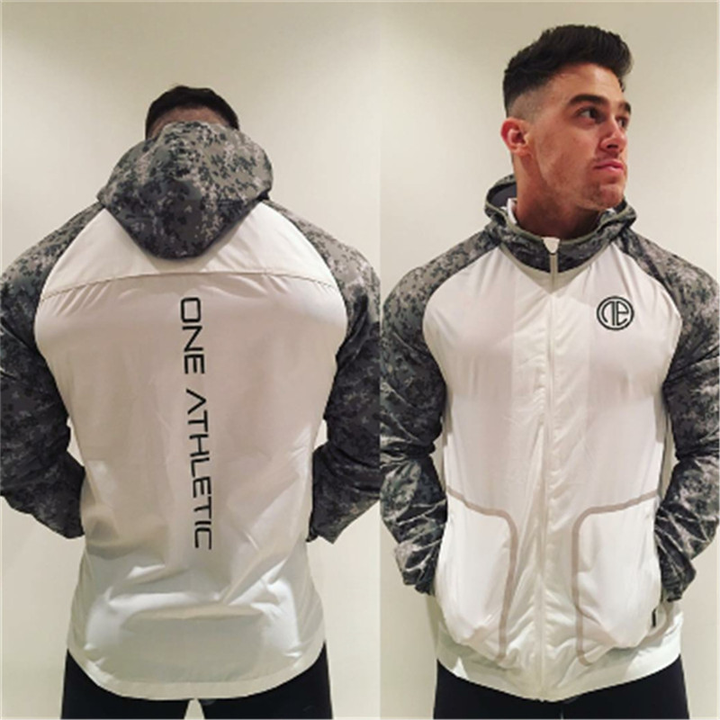 YEMEKE Spring 2019 New Fashion Patchwork Fitness Clothes Thin Coat Fast Dry Men's Loose Long Sleeve Stretch Jacket