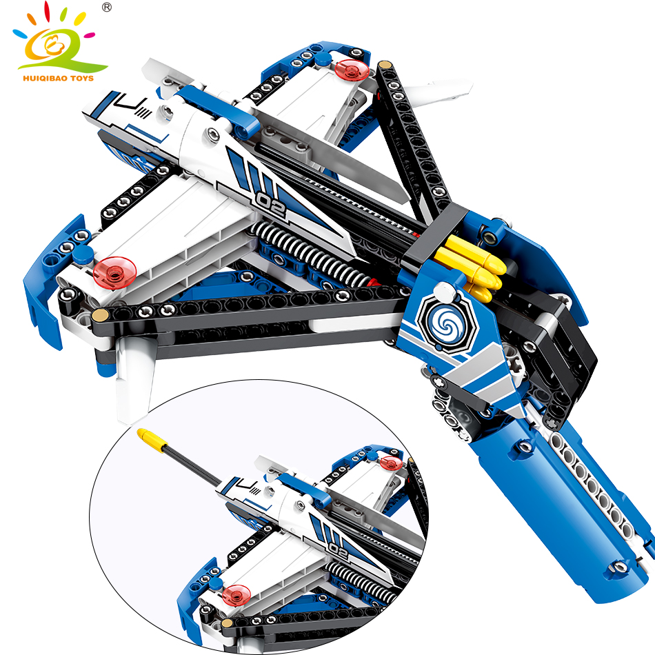 322pcs Crossbow Pistol Building Blocks Compatible Legoingly Technic Weapon Gun Bricks Educational Shooting Toys for children boy