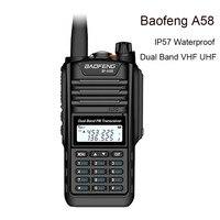 cb רדיו Baofeng BF-A58 תחנת רדיו Waterproof מכשיר הקשר IP57 128CH Dual Band UHF VHF שני הדרך רדיו כף יד FM משדר CB Ham (1)