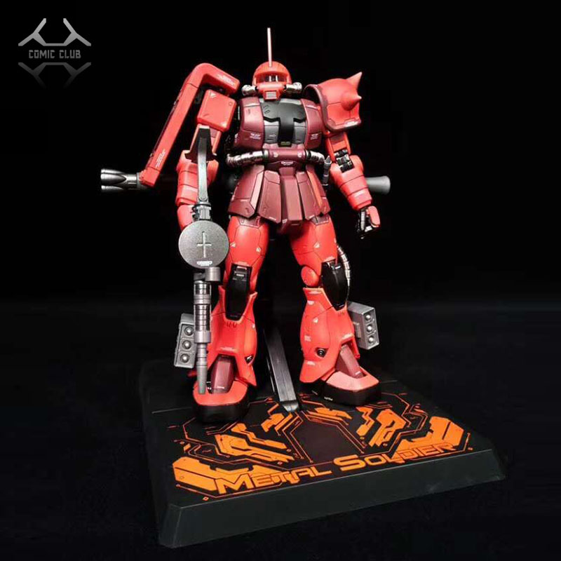 COMIC CLUB IN STOCK metal soldier MB 1 100 metal build gundam red Char Aznable zaku