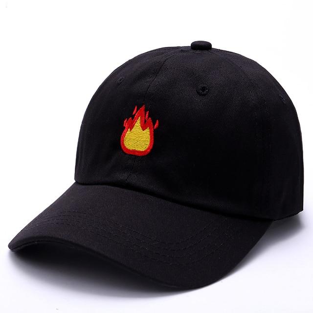 7c750c32 VORON 2017 new Fashion Week Baseball Caps FIRE fire Embroidery Brand Black  Cap Women Men coppola cappello uomo trucker Dad Hats